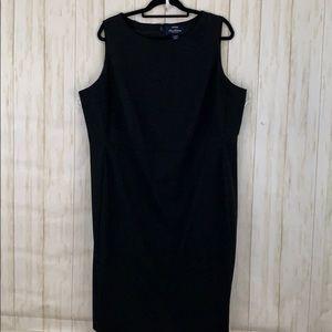 NWOT Lands End plus size 18w black dress.